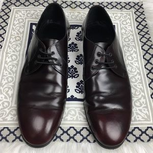 Burberry Splash Sole Lace Up Brown Shoe Size 9.5